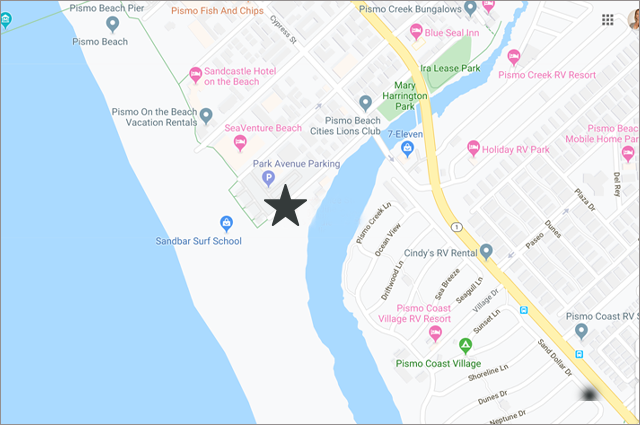 map showing beach house location